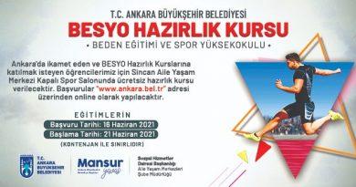 Ankara Büyükşehir Belediyesi'nden Besyo Kursu